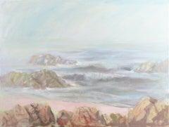 Large Impressionist Monterey oil, 'Morning Mist off Carmel, California'
