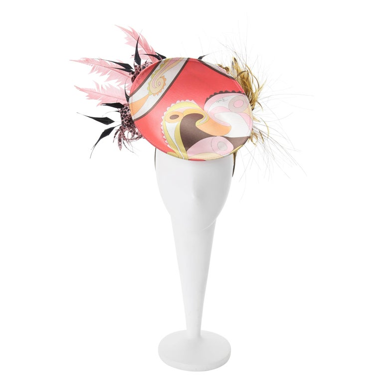 Philip Treacy for Emilo Pucci Fascinator Hat with Feathers 2004 For Sale