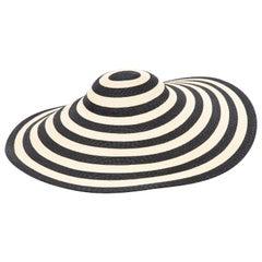 Philip Treacy for Ralph Lauren Collection Striped Raffia Hat
