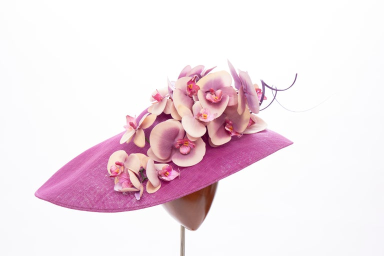 Women's Philip Treacy Fuschia Sinamay Straw Hat