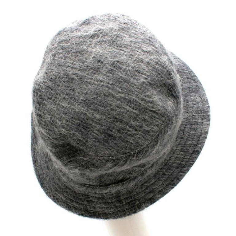 Gray Philip Treacy Grey Wool Blend Bucket Hat  For Sale