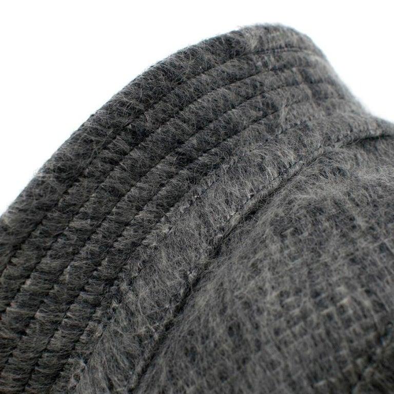 Philip Treacy Grey Wool Blend Bucket Hat  For Sale 3