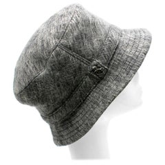 Philip Treacy Grey Wool Blend Bucket Hat