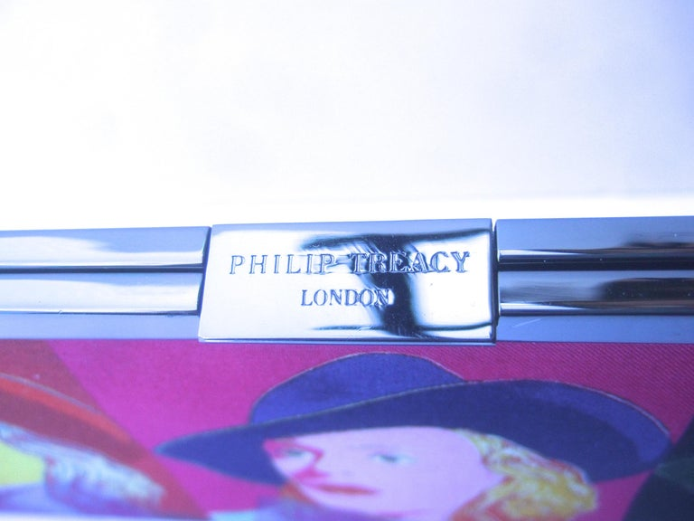 Philip Treacy London Graphic Cotton Cloth Print Clutch for Andy Warhol c 21st C For Sale 5