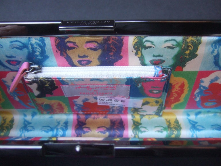 Philip Treacy London Graphic Cotton Cloth Print Clutch for Andy Warhol c 21st C For Sale 6