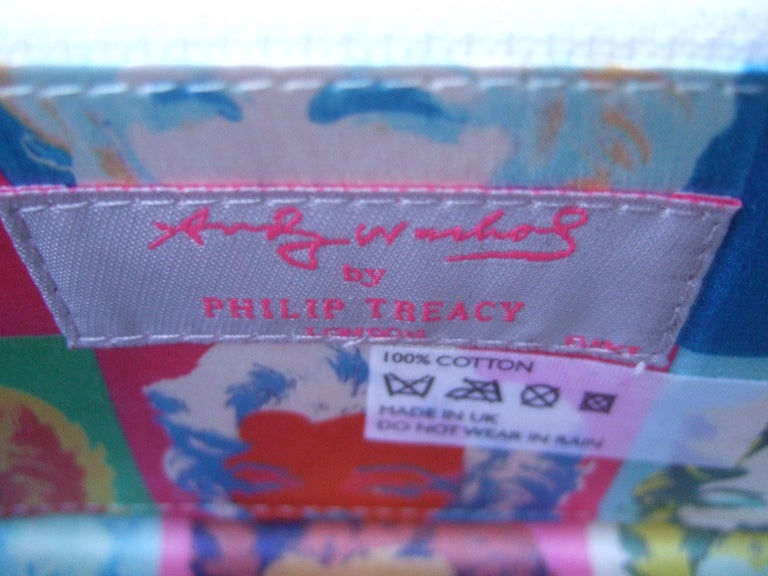 Philip Treacy London Graphic Cotton Cloth Print Clutch for Andy Warhol c 21st C For Sale 7