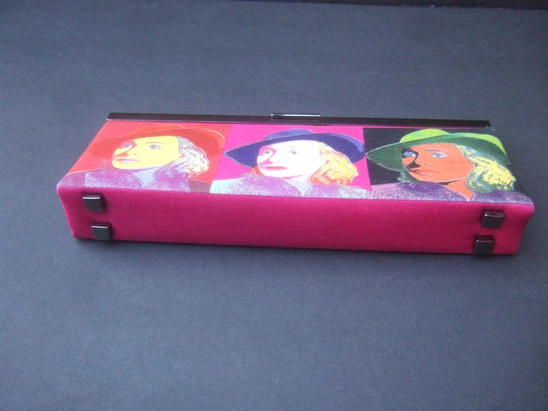 Philip Treacy London Graphic Cotton Cloth Print Clutch for Andy Warhol c 21st C For Sale 10