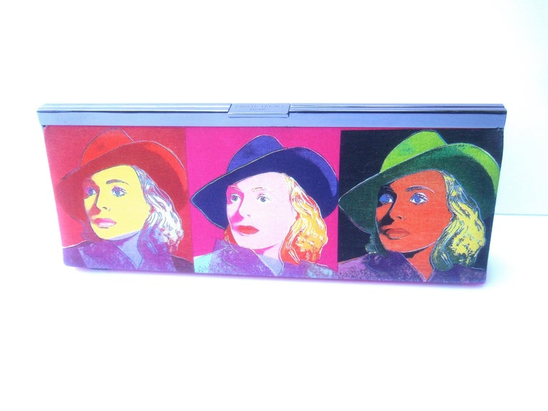 Women's Philip Treacy London Graphic Cotton Cloth Print Clutch for Andy Warhol c 21st C For Sale