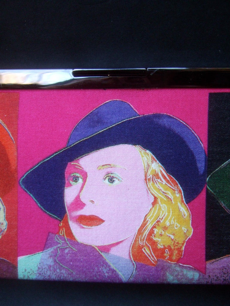 Philip Treacy London Graphic Cotton Cloth Print Clutch for Andy Warhol c 21st C For Sale 2