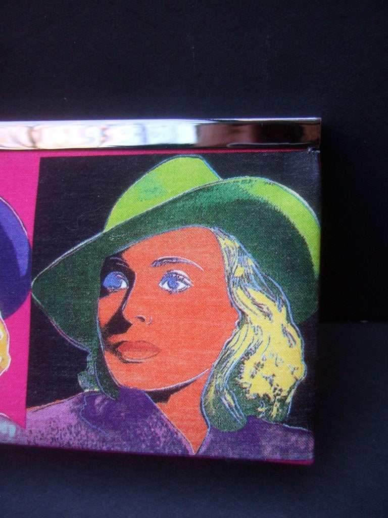 Philip Treacy London Graphic Cotton Cloth Print Clutch for Andy Warhol c 21st C For Sale 4