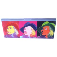 Philip Treacy London Graphic Cotton Cloth Print Clutch for Andy Warhol c 21st C