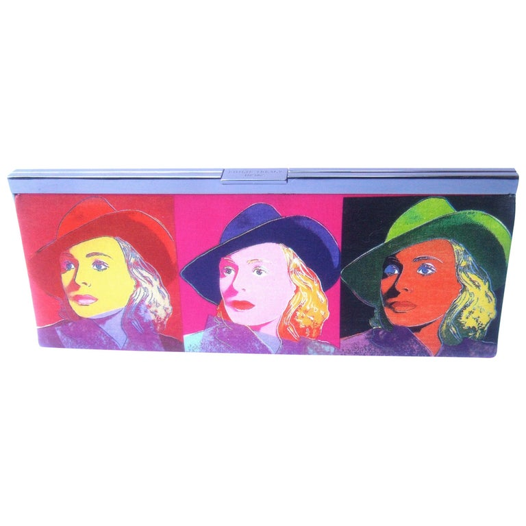Philip Treacy London Graphic Cotton Cloth Print Clutch for Andy Warhol c 21st C For Sale