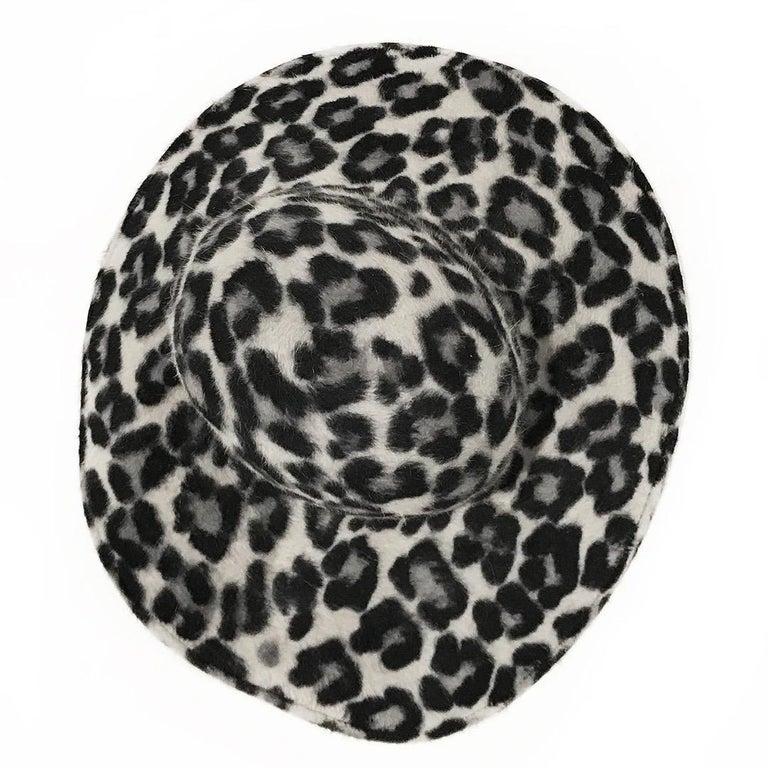 Gray Philip Treacy Wide Brim Fedora Hat For Sale