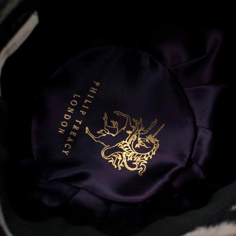 Philip Treacy Zebra Wool Felt Hat For Sale 1