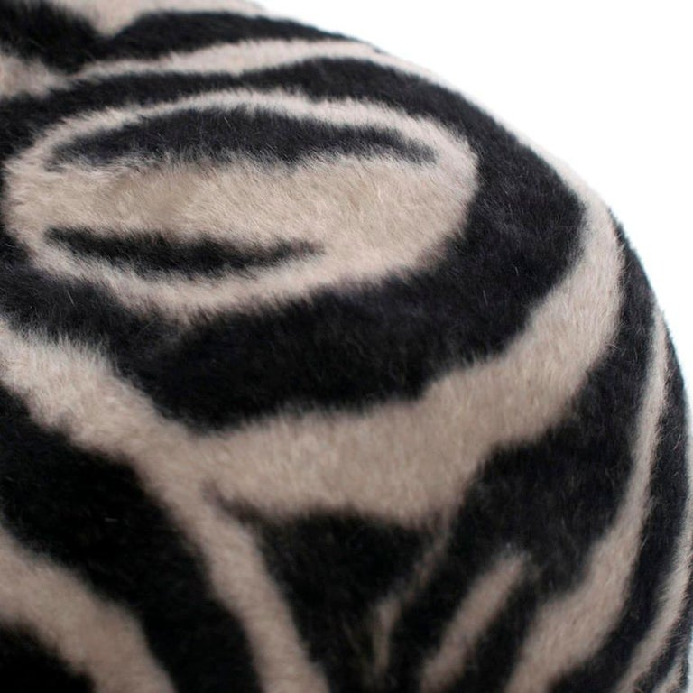Philip Treacy Zebra Wool Felt Hat For Sale 4