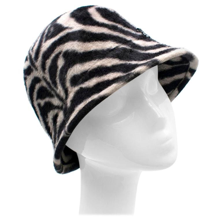 Philip Treacy Zebra Wool Felt Hat For Sale