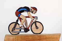 Tarmac Heroes by Philipp Liehr- Contemporary Figurative Wood Carved Sculpture