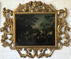 Old Master Follower of Philipp Peter Roos, mid 18th century Italianate landscape