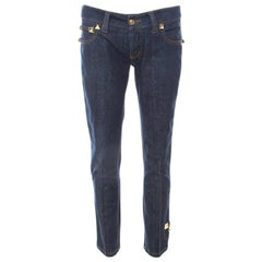 Philipp Plein Limited Edition Indigo Denim Rockstud Embellished Fitted Jeans M
