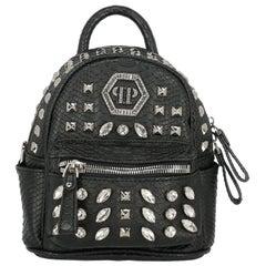 Philipp Plein Woman Backpacks Black Synthetic Fibers