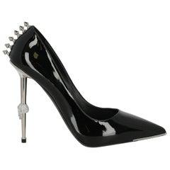 Philipp Plein Woman Pumps Black Leather IT 38