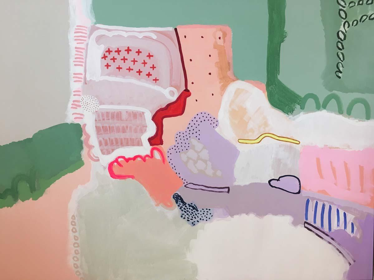 LABYRINTH BY PHILIPPA JEFFREY, Abstract Art, Bright Art