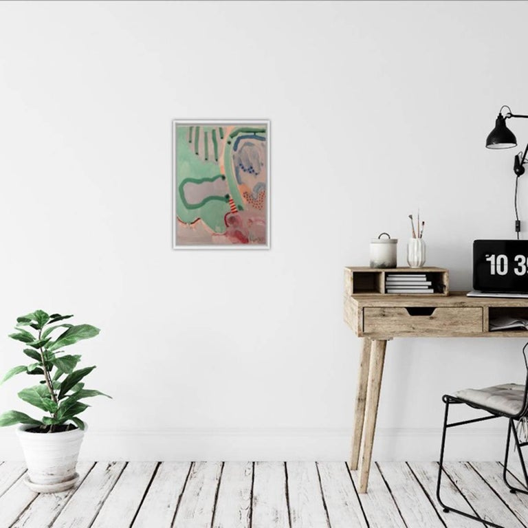 Marsh, Philippa Jeffrey, Original Contemporary Art, Abstract Art, Pastel Scheme - Gray Abstract Painting by Philippa Jeffrey
