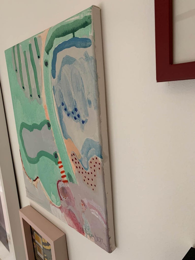 Philippa Jeffrey Marshes Original Abstract Painting Acrylic Paint on Canvas Canvas Size: H 40cm x W 30cm x D 2.5cm Sold Unframed  Marshes is an original acrylic painting by Philippa Jeffrey. Part of her latest collection, Down to the Sea, Marshes is