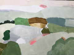 Philippa Jeffrey, Over the Hills and Far Away, Original Abstract Landscape Art
