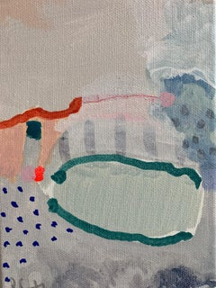 Philippa Jeffrey, Salt, Original Abstract Contemporary Painting, Bright Art