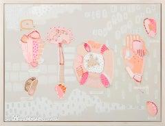 Philippa Jeffrey, Seedlings, Original Abstract Art, Pastel Art, Happy Art