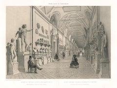 Galerie Chiaramonti, Vatican, Rome, Italy. Classical sculpture. Lithograph, 1870