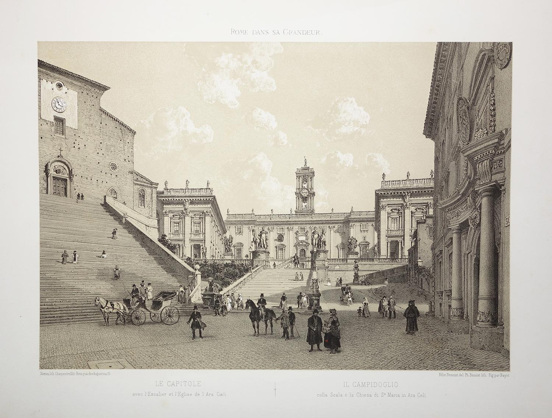 Il Campidoglio (Capitoline Hill), Rome. Tinted lithograph, 1870