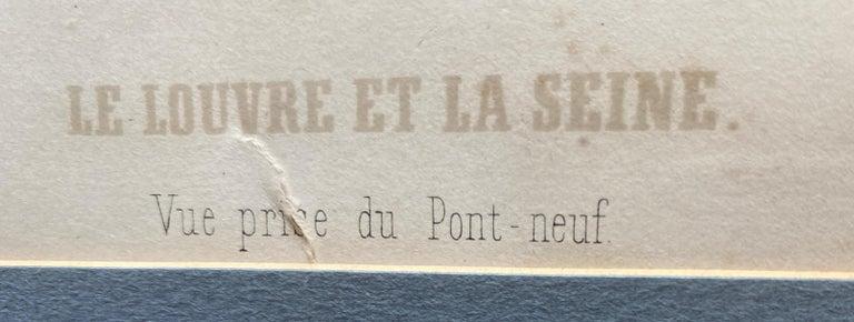 'Le Louvre et La Seine,' by Phillipe Benoist, Four-color Lithograph For Sale 2