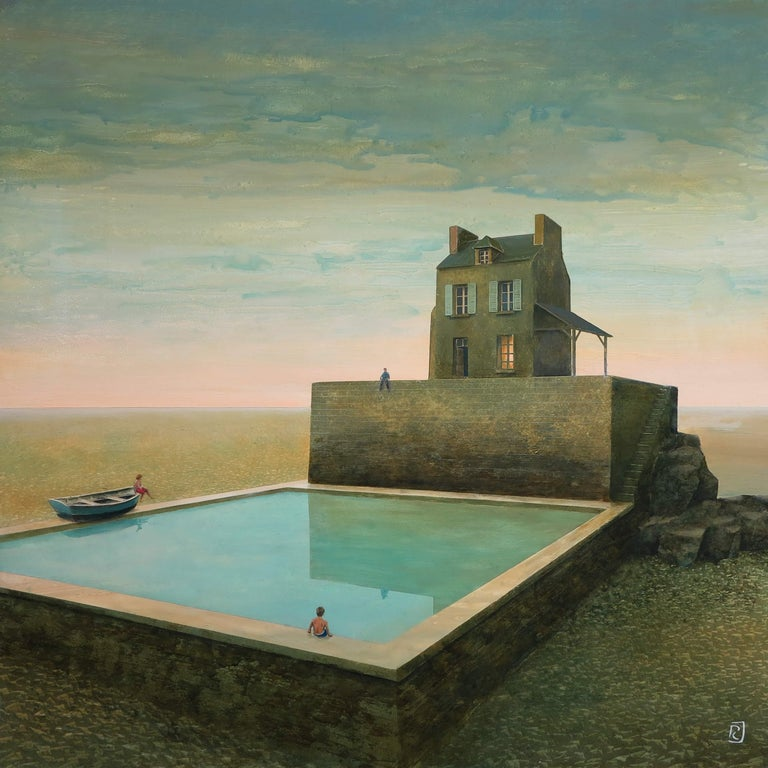 Philippe Charles Jacquet Figurative Painting - La piscine