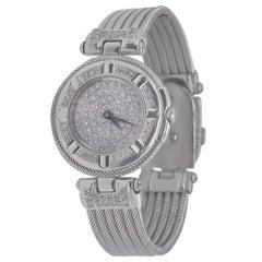 Philippe Charriol 18 Karat White Gold and Diamond Watch