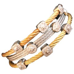 Philippe Charriol Cable Diamond Set of Bracelets