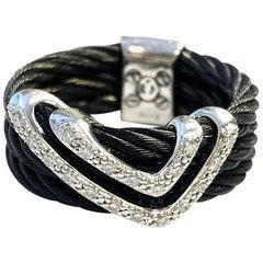 Philippe Charriol Celtic Noir Diamond Ring