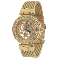 Philippe Charriol Fine Diamond and Gold Celtic Skeleton Wristwatch, circa 2000