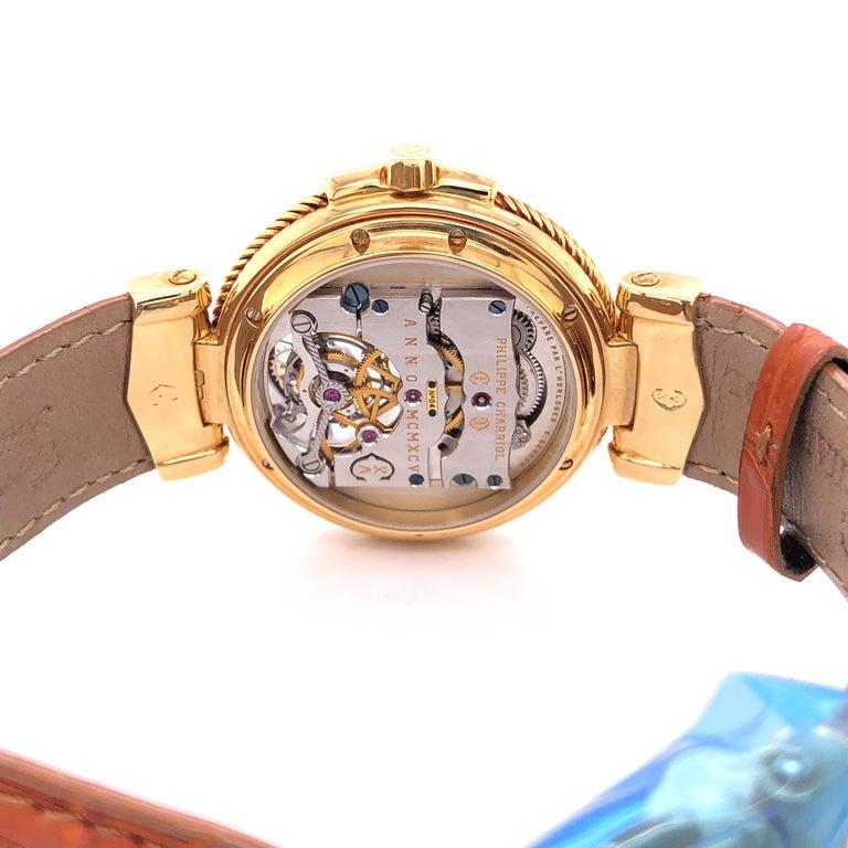 Philippe Charriol Tourbillon 18 Karat Yellow Gold Bezel Watch Limited Edition #4 For Sale 4
