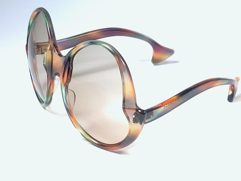 Philippe Chevallier Vintage Multi Color Oversized Sunglasses, 1960s  For Sale 2