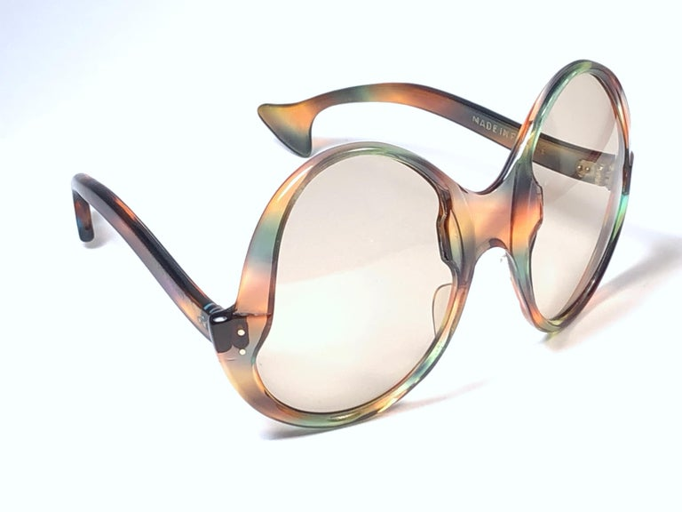 Philippe Chevallier Vintage Multi Color Oversized Sunglasses, 1960s  For Sale 3