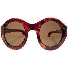 Philippe Chevallier Vintage Tortoise Oversized Sunglasses, 1960s