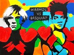 WARHOL VS BASQUIAT, Painting, Acrylic on Canvas