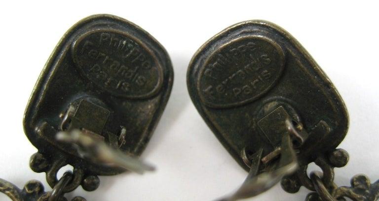 Philippe Ferrandis Amethyst & Pearl Chandelier earrings For Sale 1