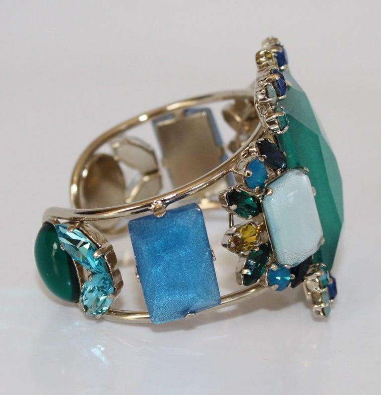 Women's Philippe Ferrandis Aqua, Blue, and Yellow Adjustable Cuff For Sale