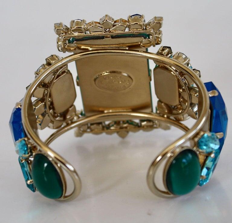 Philippe Ferrandis Aqua, Blue, and Yellow Adjustable Cuff For Sale 1