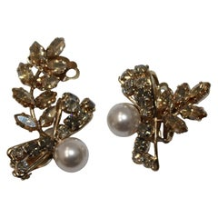 Philippe Ferrandis Asymetric Pearl and Crystal Clip