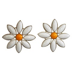 Philippe Ferrandis Daisy Clip Earrings