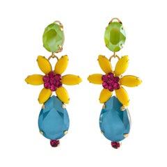 Philippe Ferrandis Floral Clip Earrings